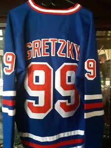 WAYNE GRETZKY # 99 NEW YORK RANGERS BLUE REPLICA JERSEY MEN'S SIZE 52 (XL) NEW!