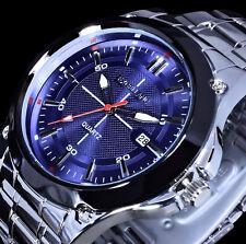 Excellanc Uhr Herrenuhr Armbanduhr Schwarz Blau Silber Farben Datum Edelstahl E1