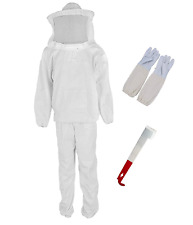 Bee Keeper Outfit Beekeeping Suit Protective With Veil Hood Jacket Pants Gloves