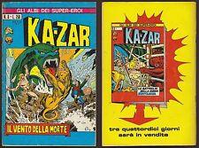 GLI ALBI DEI SUPEREROI 8 IL VENTO DELLA MORTE - KAZAR 2 - CORNO 8/8/1973 ASE
