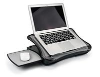 Portable Laptop Desk Mouse Pad Detachable Cushion and USB Fan Cooling Non Slip