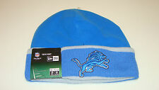 Mens Detroit Lions New Era On-Field Tech Sideline Cuffed Knit Hat Cap NFL