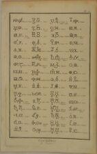 CHEMIE Symbole MERKUR Quecksilber Original Kupferstich um 1770 PERLE Alchemie