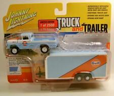 1959 '59 Ford F250 Gulf W/ Car Trailer V/A Truck And Trailer Johnny Lightning