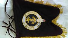 BAGPIPE BANNER. Hand Embroidered on Both Sides with Your Band or Other Badge