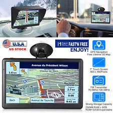 "7"" 8GB Truck Car GPS Navigation Lorry Sat Nav Navigator Voice Lane Free 3D Map"