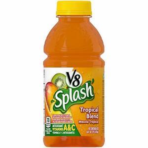 V-8 Splash Juice 16oz, Case of 12