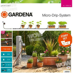 Gardena Micro-drip System for Flower Pots, Planters for Lawn Irrigation 13002-20