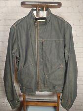G Star Raw Originals Dark Blue Navy Denim Jean Motorcycle Jacket Coat XL Xlarge