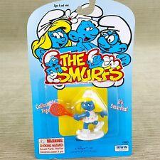 """Smurfs 2"""" Smurfette Figure Tennis Player w/ Racket Schleich Peyo Irwin Vintage"""
