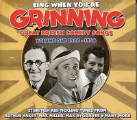 SING WHEN YOU'RE GRINNING CD GREAT BRITISH COMEDY SONGS, VOLUME 1 1926 - 1956