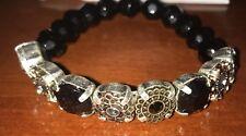 Avon Mix & Stack Beaded Stretch Bracelet NIB Black