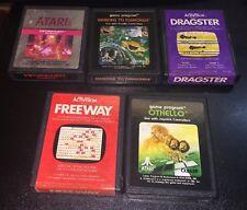 Atari 2600 Lot 5 Games Swordquest Demons to Diamonds Dragster Freeway Othello