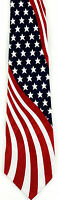 American 4th Men's Necktie Patriotic USA Flag July Holiday Striped Neck Tie