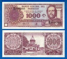 Paraguay P-221 1000 Guaranies Year 2002 Uncirculated Banknote