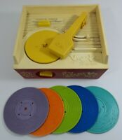 Vintage Fisher Proce Music Box Record Player Complete Retro Childrens Toy
