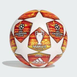 ADIDAS UEFA CHAMPIONS LEAGUE MADRID 2019 FINAL SOCCER MATCH BALL SIZE 5