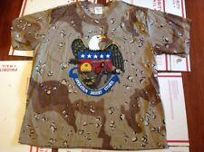 NEW Vtg Gulf War OPERATION DESERT STORM T Shirt Military CAMO