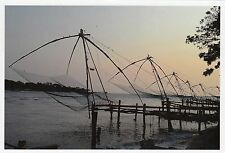 (82116) Postcard India Chinese Fishing Nets - un-posted