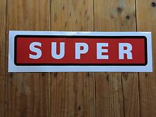 Wayne 605 Petrol Bowser 'SUPER' self-adhesive vinyl decal