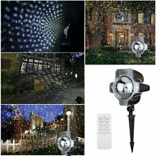 LED Outdoor Snowflake Stage Light Moving Snow Laser Projector Garden Lamp UK
