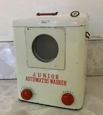 Vintage Tin Toy Automatic Washing Machine By Modern Toys Made In Japan