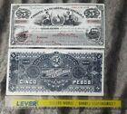 1899 Comite Bancario De Guatemala 5 Pesos Large Poster Print