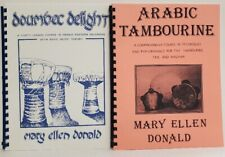 2 books ARABIC TAMBOURINE & Doumbec Drumming Middle Eastern Music by M.E. Donald