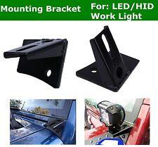 LED Work Light Mount Windshield Pillar Bracket Kit for 07-17 Jeep Wrangler JK