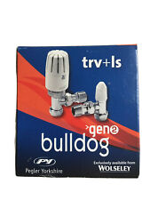 Bulldog Thermostatic Radiator Valve C/w lockshield Valve 10/8mm X 1/2 Inch