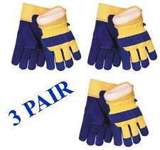 Waterproof Insulated Cowhide Winter Work Glove - 3 Pair - Size Large