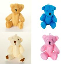 NEW - 20 Teddy Bears - Cute Small Cuddly - 5 X Brown 5 X Pink 5 X White 5 X Blue