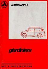 CD LIBRETTO USO e MANUTENZIONE AUTOBIANCHI 500 GIARDINIERA-FIAT T120 1974 prm