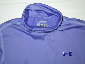 UNDER ARMOUR COLDGEAR WOMEN'S L/S TURTLENECK SHIRT PURPLE SMALL USED POLYESTER