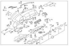 OEM Mercedes Benz Genuine Left Dashboard Speaker Trim Molding Seal Ledge - W140