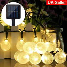 LED Solar Bubble Bulb String Lights Pack of 30 Garden Patio Fence Decor Lamp UK