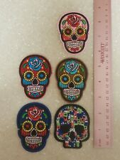 Sugar SKULL Patches 5 Embroidered patches  $25 sew or iron on FREE SHIP! NEW