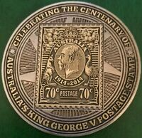 2014 Stamp Centenary Commemorative Medallion Excellent Condition