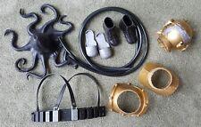 """1969 GI JOE Underwater Diver """"Eight Ropes of Danger"""" Set Octopus Boots, helmet"""