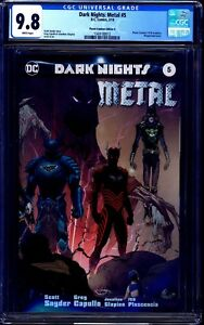 Dark Nights Metal #5 CGC 9.8 PLANET COMICON WRAPAROUND VARIANT A CAPULLO SYNDER