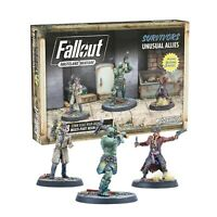 Fallout Wasteland Warfare Miniatures Survivors Unusual Allies New & Sealed