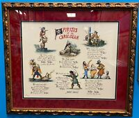 Pirate Doggerel Serigraph Signed by MARC DAVIS Walt Disney Imagineering 1994 150