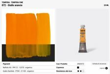 Colore a tempera fino da 20 ml Giallo Arancio Maimeri professionali Tubetto