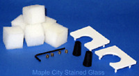 Stained Glass Supplies GLASTAR Grinder Accessory Kit New  Fits most grinders