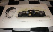 JPS Lotus 91 Elio de Angelis Austria GP Win 1982 Nuevo Arte Pintura Impresión Retrato