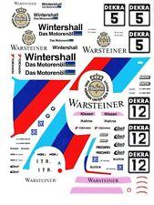 #5 WARSTEINER BMW 1991 1/64th HO Scale Slot Car Waterslide Decals