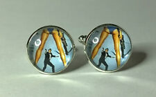 James Bond 007, For your eyes only, Glass domed cufflinks