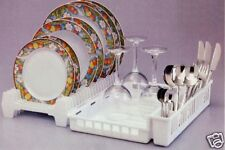 Dish Rack, Foldaway, Space Saver, Italian, New White