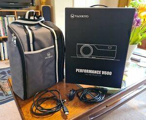 "VANKYO Performance V600 Native 1080P 300"" Full HD HDMI Projector 6800 Lumens NEW"