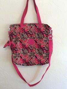 Kipling Large Shoulder / Cross Body Bag In Floral Print + Monkey Deborah